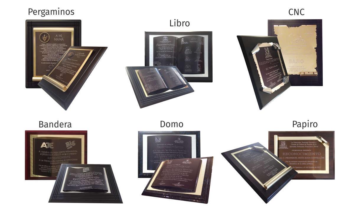 imagen con doblez de lámina en forma de bandera, domo o papiro para reconocimientos